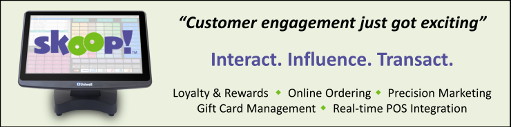 Skoop customer engagement loyalty gift cards Uniwell