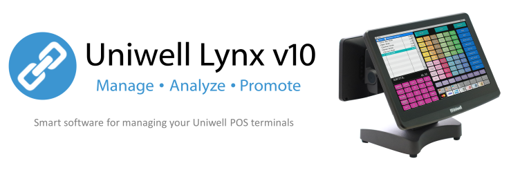Uniwell Lynx user friendly Uniwell POS management and sales analysis reporting