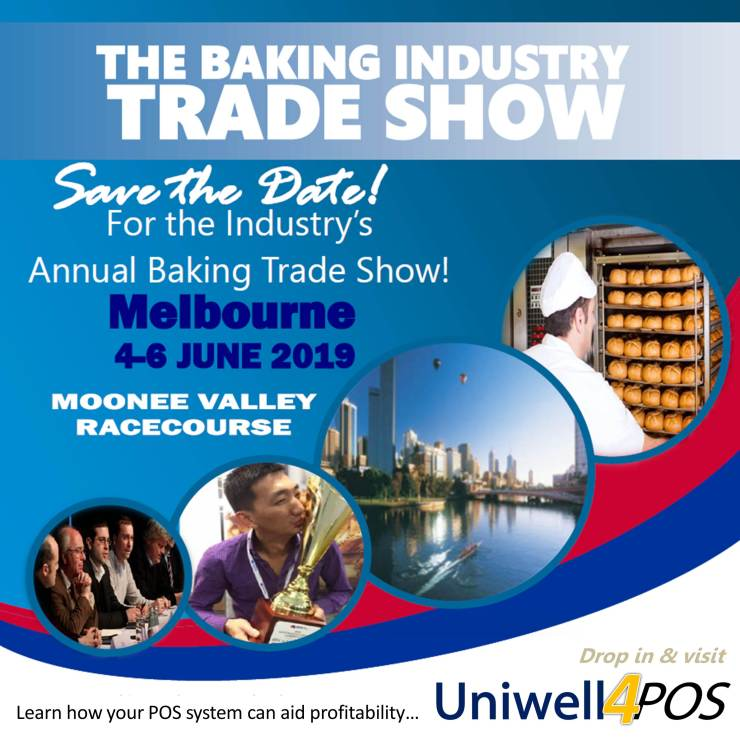 Uniwell POS point of sale solutions for Bakeries proudly supporting the Baking Industry Trade Show
